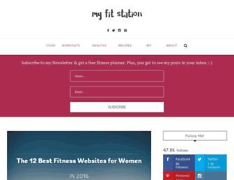 myfitstation.com screenshot