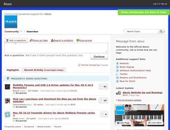 community.alesis.com screenshot