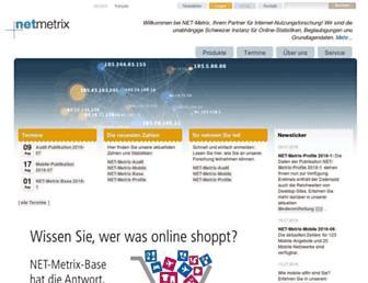 Main page screenshot of net-metrix.ch