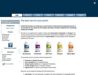 glucosamine.com screenshot
