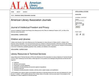 journals.ala.org screenshot