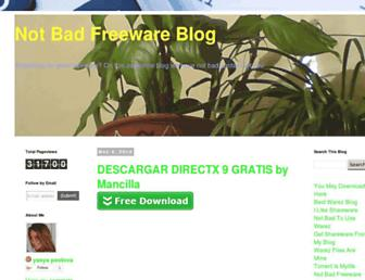 notbadfreewareblog.blogspot.com screenshot