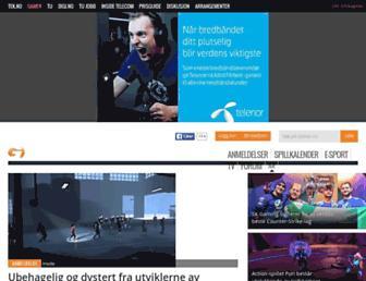 Main page screenshot of gamer.no