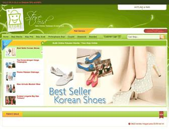 Main page screenshot of store.co.id