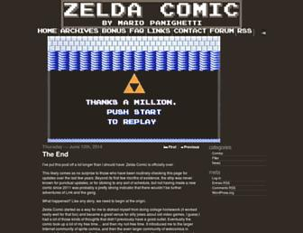 Main page screenshot of zeldacomic.net