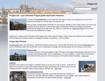 Main page screenshot of prague.net