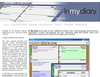 inmydiary.co.uk screenshot
