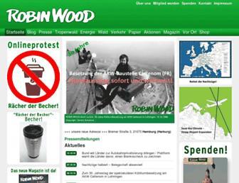 Main page screenshot of robinwood.de
