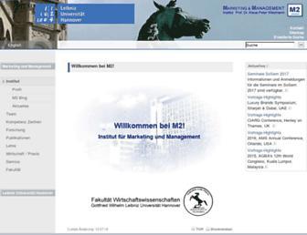marketing.uni-hannover.de screenshot