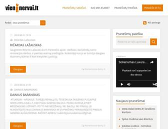 Main page screenshot of vieninervai.lt