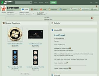 lordfussel.deviantart.com screenshot