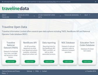 travelinedata.org.uk screenshot