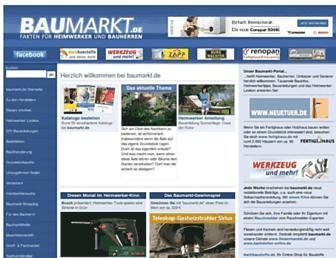 Main page screenshot of baumarkt.de