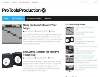 protoolsproduction.com screenshot