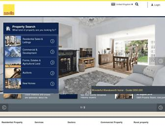 Main page screenshot of savills.co.uk