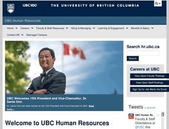 hr.ubc.ca screenshot