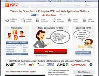 Main page screenshot of twiki.org