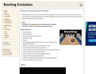 bowlingevolution.com screenshot