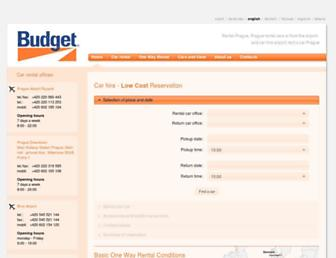 budget.cz screenshot