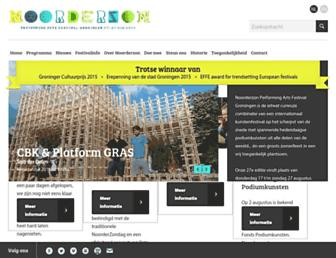 Main page screenshot of noorderzon.nl