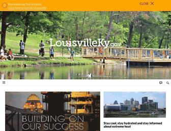 Main page screenshot of louisvilleky.gov
