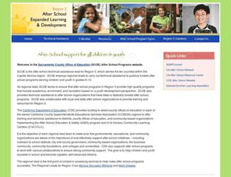 region3afterschool.org screenshot