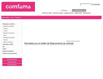 comfama.com screenshot
