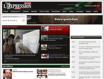 lexpressiondz.com screenshot