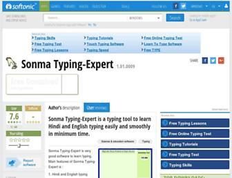 sonma-typing-expert.en.softonic.com screenshot