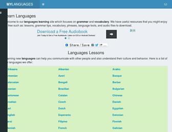 mylanguages.org screenshot