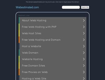 Screenshot for webestimated.com