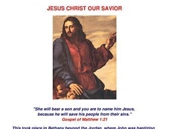 Main page screenshot of jesuschristsavior.net
