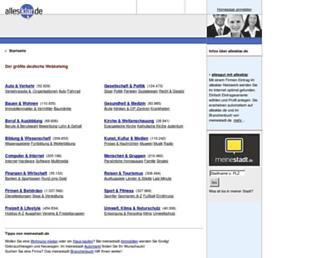 Main page screenshot of allesklar.de