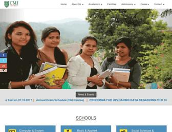 cmjumeghalaya.edu.in screenshot