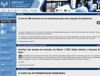 Main page screenshot of midiaindependente.org