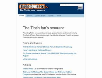 tintinologist.org screenshot