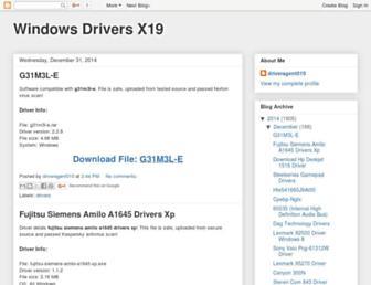 windows-drivers-x19.blogspot.com screenshot