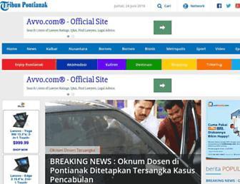pontianak.tribunnews.com screenshot