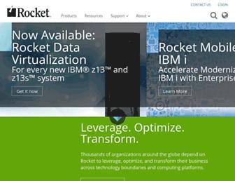 rocketsoftware.com screenshot
