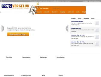 Main page screenshot of prijsvergelijk.nl
