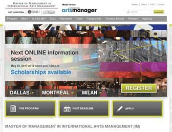 master-in-international-arts-management.com screenshot