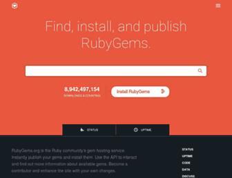 rubygems.org screenshot