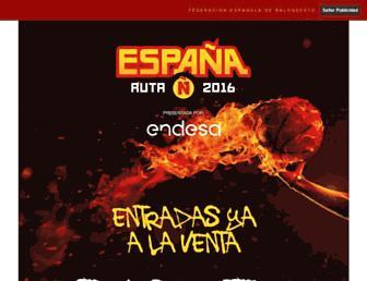 Main page screenshot of feb.es