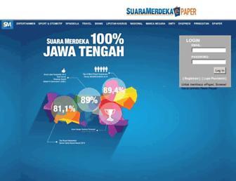 epaper.suaramerdeka.com screenshot