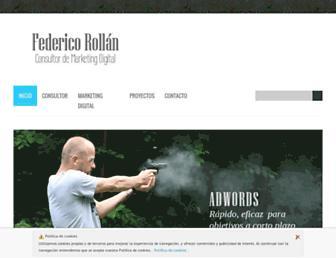 Main page screenshot of federicomarketing.es
