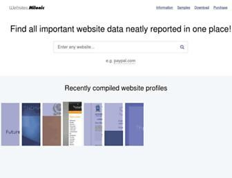 websites.milonic.com screenshot