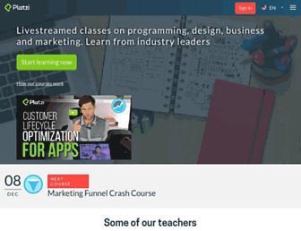 platzi.com screenshot