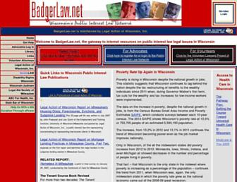 badgerlaw.net screenshot