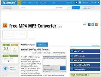 free-mp4-mp3-converter.en.softonic.com screenshot