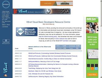 vbnet.mvps.org screenshot